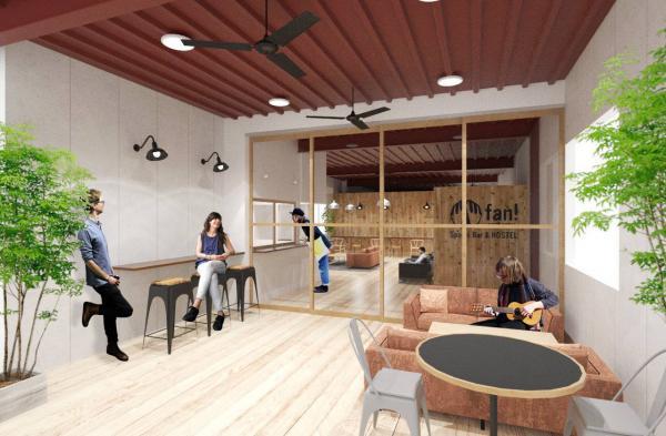 学生インターン発のゲストハウス「fan! –ABURATSU- Sports Bar & HOSTEL」、宮崎に2月オープン