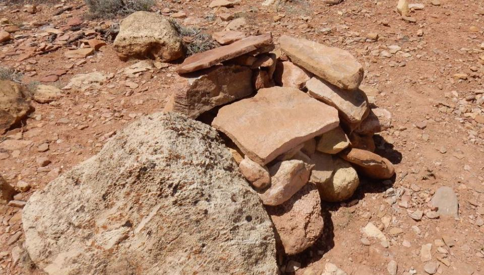 """I like sitting, so much so I turned some cairns other hikers had built into this """"throne"""" to admire the view from."""