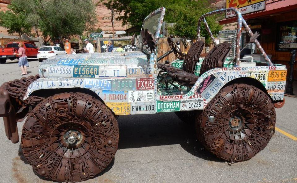 """These pictures have nothing to do with writing. This is a piece of folk art from """"The hole in the wall"""" in Utah; a roadside attraction."""