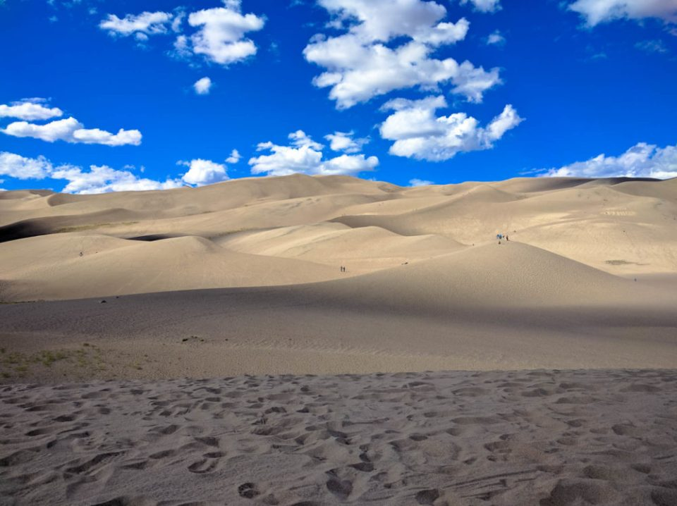 At the Base of the Sand Dunes