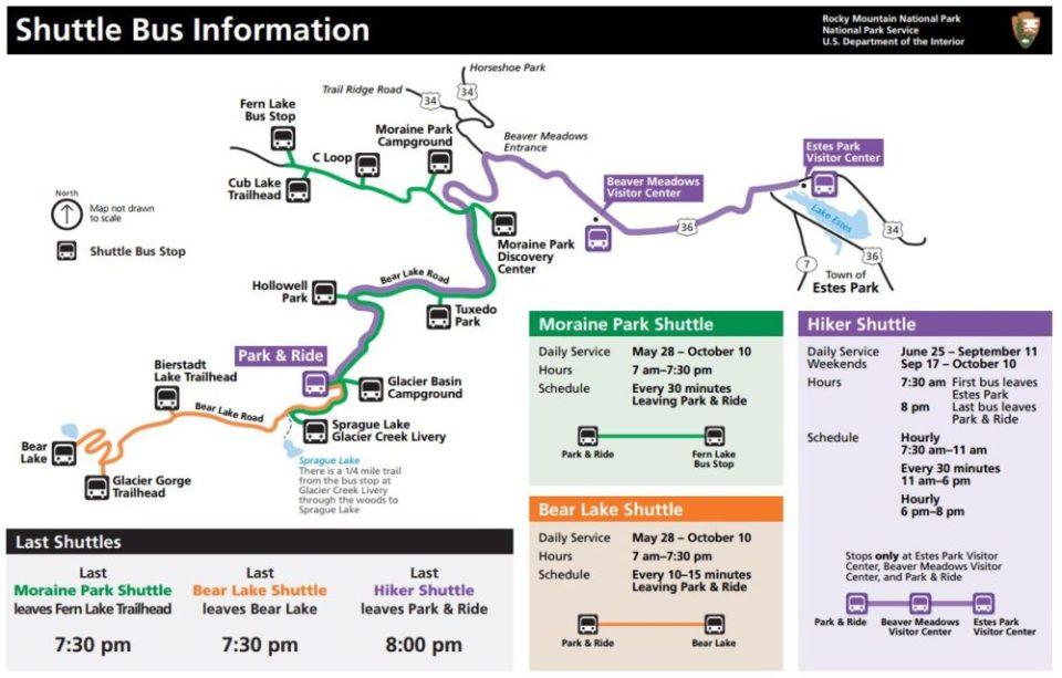 Rocky Mountain Shuttle Map 2016