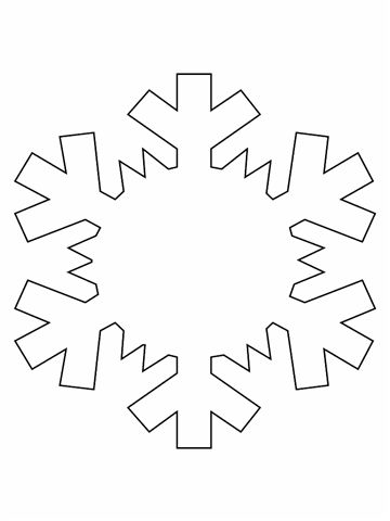 Snowflake template Trail and District Chamber of Commerce - snowflake template