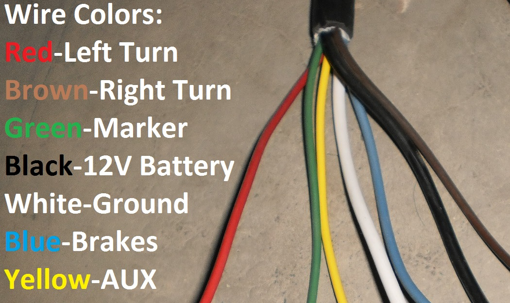 7 pin trailer wire harness colors