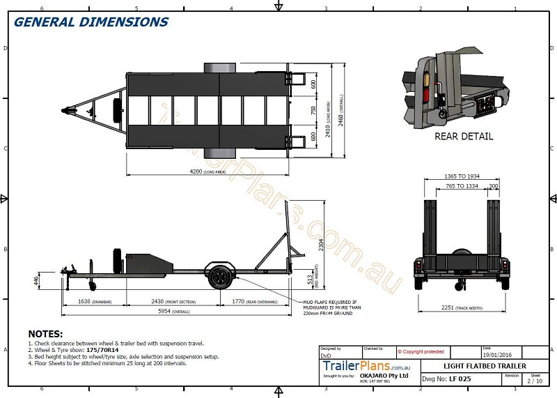 single axle trailer wire diagram