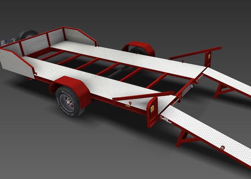 Golf Cart Tilt Trailer Plans Golf Cart Golf Cart Customs