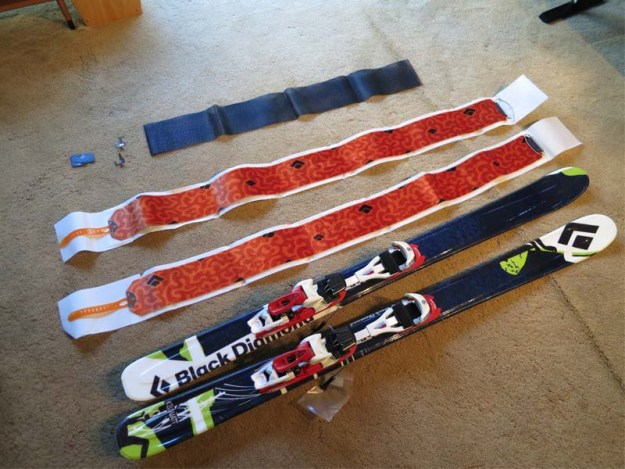 Black Diamond STS Custom Skins and Skis