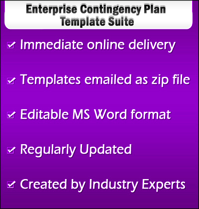 Enterprise Contingency Plan Template - contingency plan example