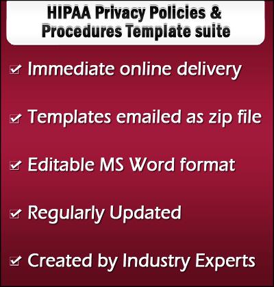 HIPAA Privacy Policies Templates