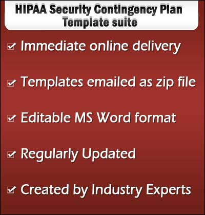 HIPAA Security Contingency Plan Templates and Samples - HIPAA - contingency plan example