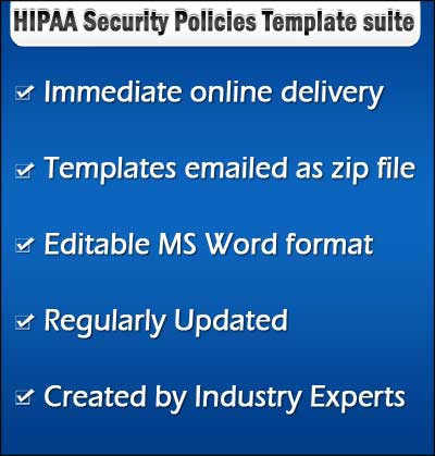 2019 HIPAA Security Policies templates Procedure Manual forms