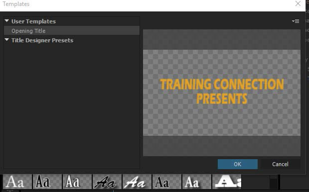 Creating Text Templates in Adobe Premiere Pro Training Connection