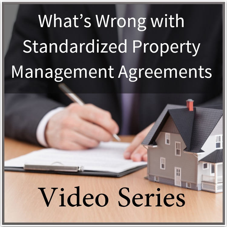 What\u0027s Wrong with Standard Form Management Agreements - Training - property management agreements