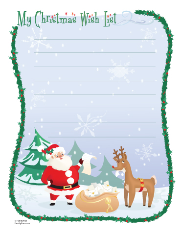 Christmas Wish List Archives - Train Up The Child - christmas wish list paper
