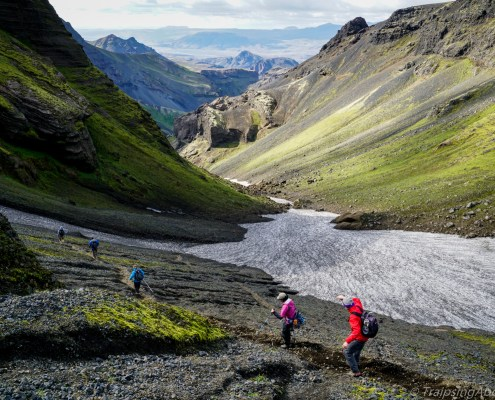 Trekking Iceland highlands canyon