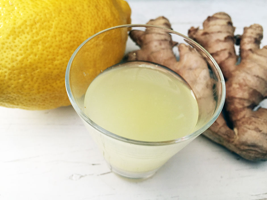 Ginger shot recipe with lemon and honey