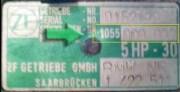 табличка шильдик 5HP30