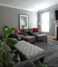 Interior Design Greensboro   living room pair chairs red ...