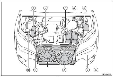 Toyota RAV4 Owners Manual Engine compartment - Do-it-yourself