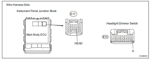 Toyota RAV4 Service Manual Headlight relay circuit - Data list