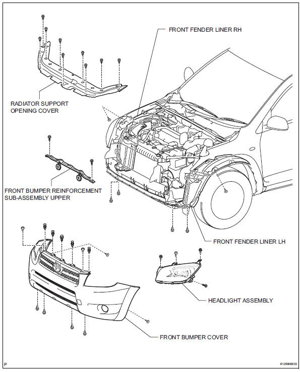 Toyota RAV4 Service Manual Headlight assembly - Lighting