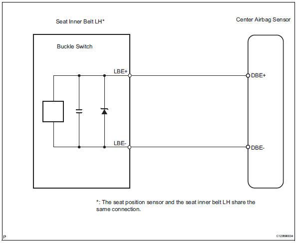 Toyota RAV4 Service Manual Driver side seat belt buckle switch
