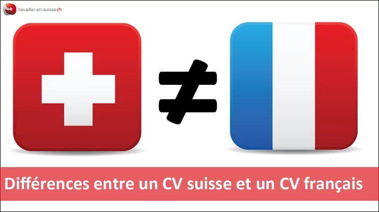 difference entre cv francais et suisse