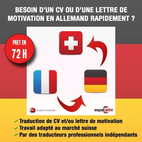 traduction allemand lettre cv