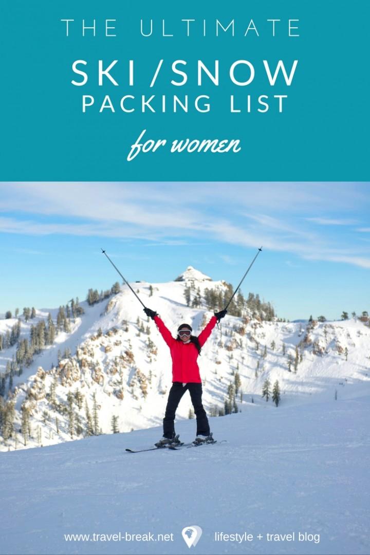 Snow Vacation Packing List (Women) \u2022 TravelBreak