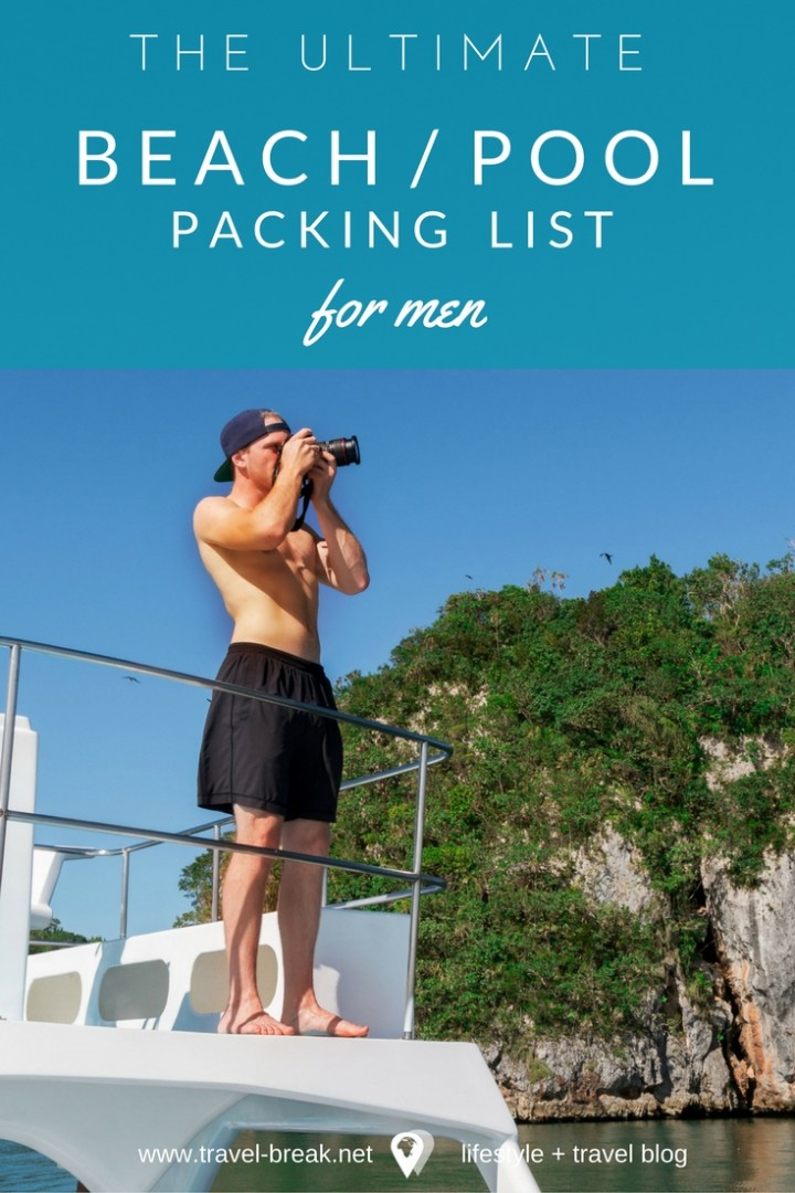 The Ultimate Beach Vacation Checklist (Men) \u2022 TravelBreak - summer vacation checklist