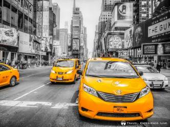 Taxis on Times Square, Manhattan, NYC