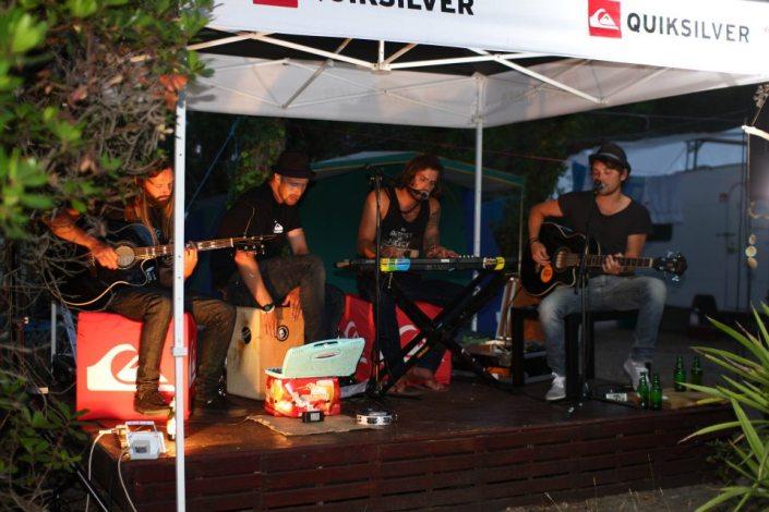 Surfcamp Moliets Plage Frankreich Band Auftritt