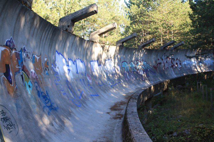 Sarajevo's Abandoned Winter Olympics Bobsleigh Track