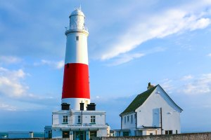 """This lighthouse looking out into the Channel at Portland Bill reminded me of """"Round the Twist"""""""