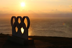 After a fast drive from the mainland at Weymouth and across Portland Beach, the road climbs the cliffs at Portland to reveal a stunning view of Chesil Beach, a lick of sand that stretches out towards the sunset. A statue of the Olympic rings looks down on the the marina where the sailing took place in 2012.