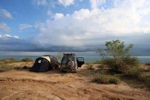 Camping in Lake Kyzyl-Art