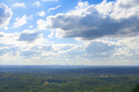 We huffed and puffed to the top of Stone Mountain (but not as much as the fat locals) to admire the impressive views of Atlanta from afar.