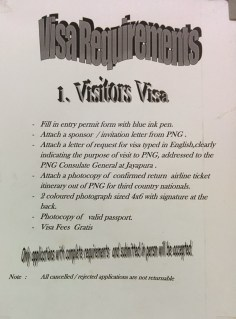 PNG Consulate Jayapura visa requirements