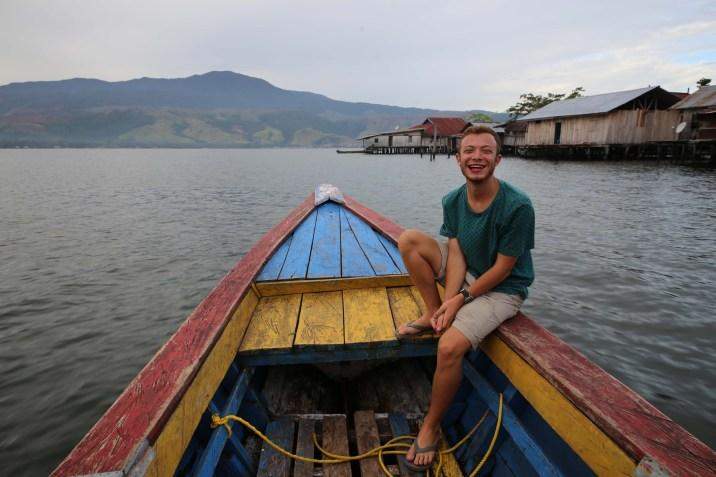 Boating around Lake Sentani