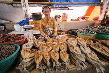 Fish market in Labuan Bajo