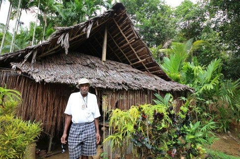 Jerry outside his kitchen building in Ambunti