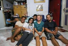 My lovely Couchsurfing host Indra and his friendly family
