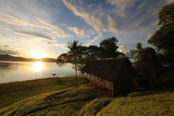 House in Wagu village, Sepik River