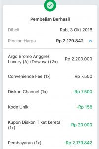 travelbeib beli tiket argo bromo anggrek luxury di traveloka
