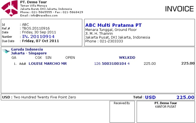 Contoh Invoice In 20110914 Skenario 2 Ideas for the House - create your own invoices
