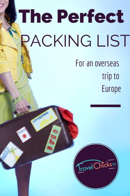 Travel Packing List PDF for Women Travel Chicks