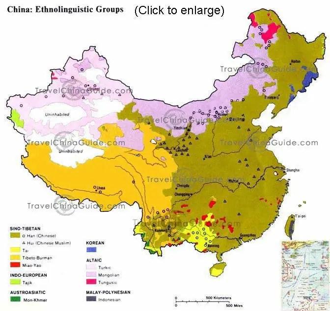 Chinese Ethnic Groups Han People and 55 Ethnic Minorities