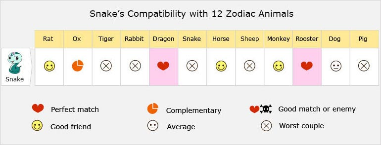 Snake Love Compatibility, Relationship, Best Matches, Marriage