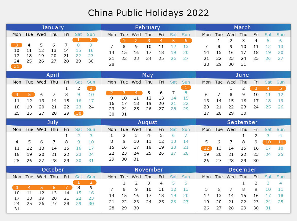 Chinese Public Holiday Calendar 2019 / 2020 / 2021, Schedule