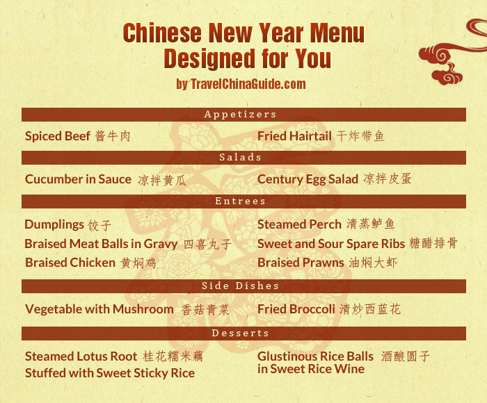 Top 10 Chinese New Year Dishes Recipe for Spring Festival Dinner