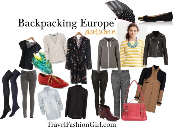 Backpacking Europe In Autumn Travel Fashion Girl